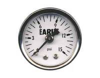"Cockpit & Interior - Earl's Performance Products - Earl's Fuel Pressure Gauge - 0-15 PSI - 1/8"" NPT Male Thread"