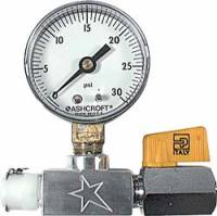 Tire Pressure Relief Valves and Components - Tire Pressure Relief Valve Setting Tools - Allstar Performance - Allstar Performance Tire Relief Pre-Setter Gauge - 0-30 PSI