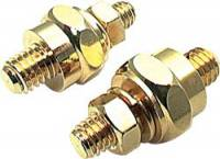 Battery - Battery Cable Terminals & Ends - Allstar Performance - Allstar Performance 24K Gold Side-Mount Battery Terminals - Set of 2