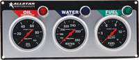 Dash Gauge Panels - 3 Gauge Dash Panels - Allstar Performance - Allstar Performance Auto Meter Sport-Comp 3 Gauge Panel - OP/WT/FP