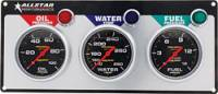 Dash Gauge Panels - 3 Gauge Dash Panels - Allstar Performance - Allstar Performance Auto Meter Pro-Comp Liquid-Filled 3 Gauge Panel - WT/OP/FP