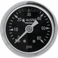 "Analog Gauges - Fuel Pressure Gauges - Allstar Performance - Allstar Performance 0-60 PSI 1-1/2"" Gauge - Glycerin Filled"