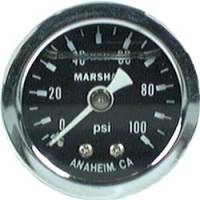 "Gauges - Pressure Gauges - Allstar Performance - Allstar Performance 0-100 PSI 1-1/2"" Gauge - Glycerin Filled"