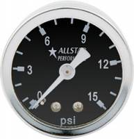 "Analog Gauges - Fuel Pressure Gauges - Allstar Performance - Allstar Performance 0-15 PSI 1-1/2"" Gauge"