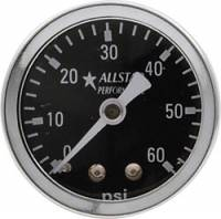 "Analog Gauges - Fuel Pressure Gauges - Allstar Performance - Allstar Performance 0-60 PSI 1-1/2"" Gauge"