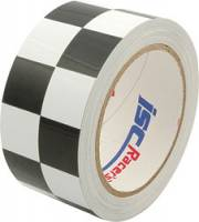 "Tape - Racers Duct Tape - ISC Racers Tape - ISC Racers Tape - 2"" Checkered - 45 Ft."