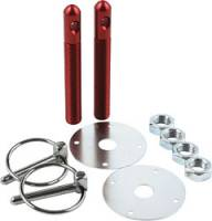 "Body Hardware and Fasteners - Hood Pin Kits - Allstar Performance - Allstar Performance Aluminum Hood Pin Kit - Red - 1/2"" Diameter"