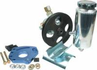 Power Steering Kits - Steel Power Steering Kits - Allstar Performance - Allstar Performance Power Steering Pump Kit - SB Chevy w/ Head Mount Bracket