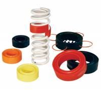 "Spring Accessories - Spring Rubbers - Longacre Racing Products - Longacre 5"", 5.5"" Deep Groove Coil Spring Rubber - Red (Soft)"
