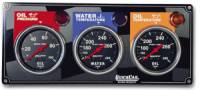 Dash Gauge Panels - 3 Gauge Dash Panels - QuickCar Racing Products - QuickCar 3 Gauge Panel w/ Auto Meter Sport Comp Gauges - OP/WT/FP