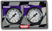 Gauge Panels - Brake Bias Gauge Panels - QuickCar Racing Products - QuickCar Mini Brake Bias Horizontal Gauge Panel  Light Weight 1-1/2""