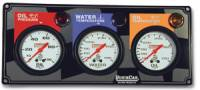 Dash Gauge Panels - 3 Gauge Dash Panels - QuickCar Racing Products - QuickCar 3 Gauge Panel - OP/WT/OT