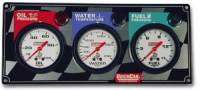 Dash Gauge Panels - 3 Gauge Dash Panels - QuickCar Racing Products - QuickCar 3 Gauge Panel - OP/WT/FP