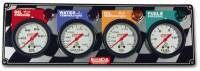 Dash Gauge Panels - 4 Gauge Dash Panels - QuickCar Racing Products - QuickCar 4 Gauge Panel - OP/WT/OT/FP