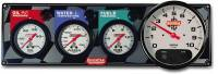 "QuickCar Racing Products - QuickCar 3-1 Gauge Panel - OP/WT/FP w/ 5"" Memory Tachometer"