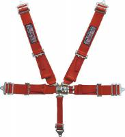 Seats & Accessories - Seat Belts & Restraints - G-Force Racing Gear - G-Force Pro Series Latch & Link 5 Point Restraint System - Individual Shoulder Harness, Pull-Down Lap Belt - Bolt-In - Red