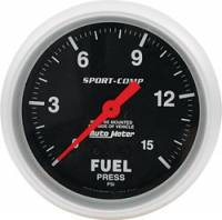 "Analog Gauges - Fuel Pressure Gauges - Allstar Performance - Allstar Performance 2-5/8"" Auto Meter Fuel Pressure Gauge - Sport Comp - 15 PSI"