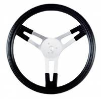 "Karting Parts - Karting Steering Wheels - Grant Steering Wheels - Grant Performance Series 13"" Aluminum Steering Wheel - Black Foam Grip w/ Finger Grips - 1-1/2"" Dish."