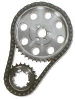 JP Performance - JP Performance SB Chevy Billet Double Roller Timing Set - SB Chevy 265-400 - Reverse Oiler