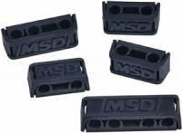 Spark Plug Wire Accessories - Wire Separators - MSD - MSD Pro-Clamp Wire Separators - Polymer - Black - 7-9mm - Set of 8
