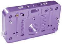 Carburetor Service Parts - Metering Blocks - Proform Performance Parts - Proform Billet Aluminum Adjustable Metering Block - Purple Anodized - Holley 4150