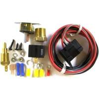 Fan Parts & Accessories - Electric Fan Wiring & Switches - Painless Performance Products - Painless Performance Fan Relay w/ Thermostat (On @ 185F, Off @ 170F)