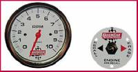 "Memory Tachometers - In-Dash Memory Tachs - QuickCar Racing Products - QuickCar 3-3/8"" Tachometer w/ Remote Recall - 10,000 RPM"