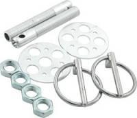 "Body Hardware and Fasteners - Hood Pin Kits - Allstar Performance - Allstar Performance Lightweight Aluminum Hood Pin Kit - 3/8"" - Silver"