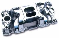 Intake Manifolds - SB Chevy - Professional Products Intake Manifolds - SBC - Professional Products - Professional Products SB Chevy Crosswind Vortec Intake Manifold - Satin