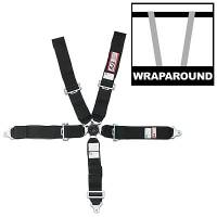 """Safety Equipment - Seat Belts & Harnesses - RJS Racing Equipment - RJS 5-Point Quick Release Camlock Harness System - Black - Wrap Around - 3"""" Anti-Sub"""