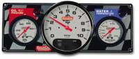 "Cockpit & Interior - QuickCar Racing Products - QuickCar 2-1 Gauge Panel - OP/WT w/ 3-3/8"" Remote Recall Tachometer"