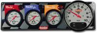 "QuickCar Racing Products - QuickCar 3-1 Gauge Panel - OP/WT/OT w/ 3-3/8"" Remote Recall Tachometer"