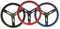 """Steering Components - QuickCar Racing Products - QuickCar Steel Steering Wheel 15"""" - Blue"""