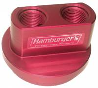 "Engine Components - Hamburger's Performance Products - Hamburger's Billet Oil Filter Bypass Adapters - Chevy V-8 - 13/16""-16 and 3-3/16"" I.D./3-7/16"" O.D. O-Ring"