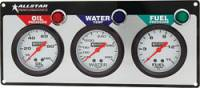 "Dash Gauge Panels - 3 Gauge Dash Panels - Allstar Performance - Allstar Performance 3 Gauge Panel (OP/WT/FP) - 2-5/8"" Gauges"