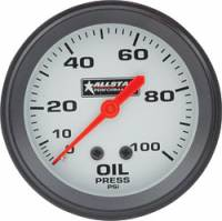 "Analog Gauges - Oil Pressure Gauges - Allstar Performance - Allstar Performance Oil Pressure Gauge - 2-5/8"" Diameter - 0-100 PSI"