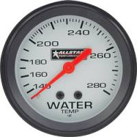"Water Temp Gauges - Mechanical Water Temp Gauges - Allstar Performance - Allstar Performance Water Temperature Gauge - 2-5/8"" Diameter - 140-280F"