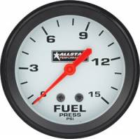"Fuel Pressure Gauges - Mechanical Fuel Pressure Gauges - Allstar Performance - Allstar Performance Fuel Pressure Gauge - 2-5/8"" Diameter - 0-15 PSI"