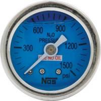 """Analog Gauges - Nitrous Pressure Gauges - Allstar Performance - Allstar Performance Shockproof Glycerine Filled 0-1500 PSI NOS Pressure Gauge - 1-1/2"""""""