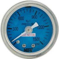 Analog Gauges - Fuel Pressure Gauges - Allstar Performance - Allstar Performance Shockproof Dry Type 0-1500 PSI NOS Pressure Gauge - 1-1/2""