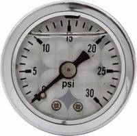 Analog Gauges - Fuel Pressure Gauges - Allstar Performance - Allstar Performance Shockproof Engine Turned 0-30 PSI Gauge - 1-1/2""