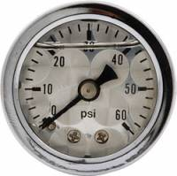 Gauges - Pressure Gauges - Allstar Performance - Allstar Performance Shockproof Engine Turned 0-60 PSI Gauge - 1-1/2""