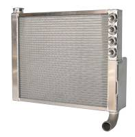 "Saldana Radiators - Saldana Sprint Car Radiators - Saldana Racing Products - Saldana Sprint Cross-Flow Double Pass Radiator - 20-5/8"" Wide x 16"" Tall - 1-1/2"" Outlet"