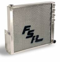 FSR Radiators - FSR Aluminum Sprint Car Radiators - FSR Racing Products - FSR Sprint Car Radiator - Double Pass Chassis Mount