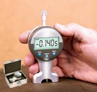 Wheel & Tire Tools - Durometers & Depth Gauges - Longacre Racing Products - Longacre Digital Tread Depth Gauge w/ Silver Case