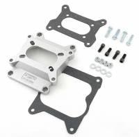 Air & Fuel System - Mr. Gasket - Mr. Gasket Aluminum Carburetor Adapter - Converts Holley 2 BBL to Quadrajet 4 BBL Intake Manifold