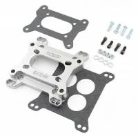 Air & Fuel System - Mr. Gasket - Mr. Gasket Aluminum Carburetor Adapter - Converts Holley 2 BBL to Holley 4 BBL Intake Manifold