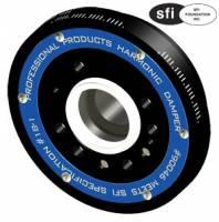 "Harmonic Balancers - SB Ford - Professional Products Harmonic Balancers - SBF - Professional Products - Professional Products Powerforce+ Plus Lightweight Harmonic Damper - SFI 18.1 Approved - 6.4"" - SB Ford (Late) - 50 oz. - External Balance"