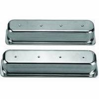 Engine Components - Racing Power - Racing Power Polished Aluminum Valve Covers - Tall - SB Chevy 87-97 Valve Covers - No Holes