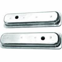 Engine Components - Racing Power - Racing Power Polished Aluminum Valve Covers - Short - SB Chevy 87-97 Valve Covers - (1) Hole